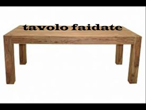 TUTORIAL come costruire un tavolo di legno - YouTube