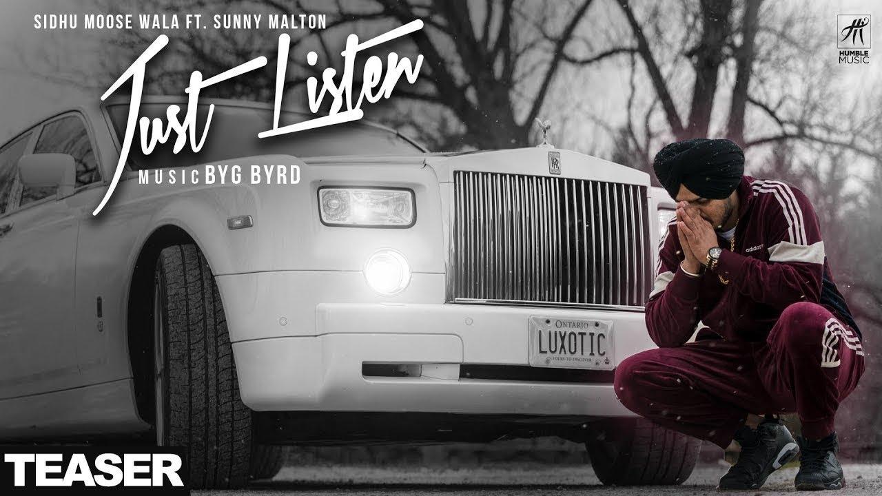 JUST LISTEN LYRICS – SIDHU MOOSE WALA   Best NxtLyrics -2018