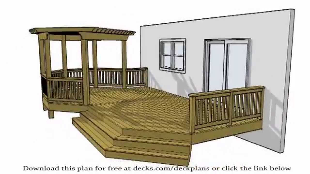16 best deck plans free house plans 67761 for House plans with decks