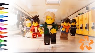 Lego Ninjago Movie - Coloring Pages For Children With Color & Kids TV