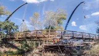 San Jose Creek Bike Path Bridge Installation