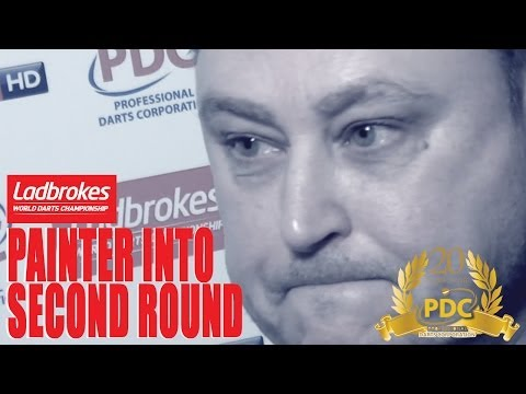 Kevin Painter after his first round win at the Ladbrokes World Darts Championship