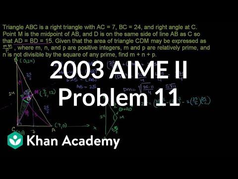 Trig challenge problem: area of a triangle | Khan Academy
