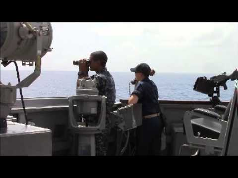 The Sailors of USS KIDD keep watch during the MH370 Search