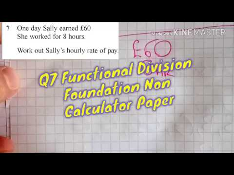 Q7 Functional Division Foundation Non-Calculator Paper Sample Assessment Material Two