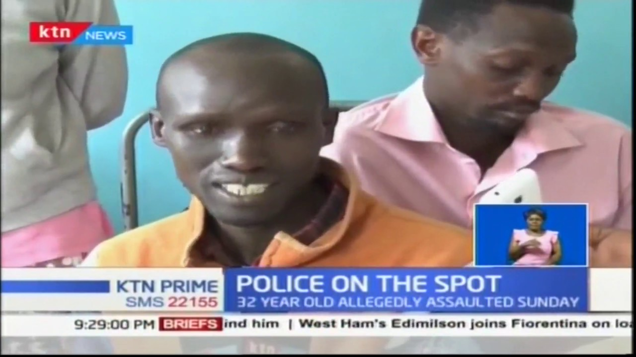32 year old man nursing injuries after he was allegedly beaten by police officers in Nakuru