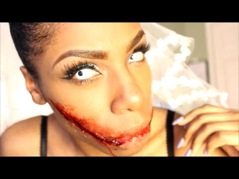 Halloween│Bride Ripped Smile Special Effects Makeup (chelsea ...