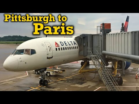 Full Flight: Delta Air Lines B757-200 Pittsburgh to Paris (PIT-CDG)