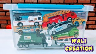 Cars and Vehicles for Kids, #cars Trucks, Fire Truck, Police Car in the #toys Box
