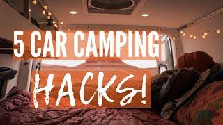 5 Car Camping HACKS
