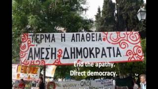 Movement for Direct Democracy, Syntagma Square Athens, Greece 2011. Don