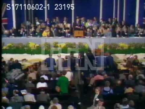 Margaret Thatcher & Edward Heath Conservative Party Conference 1975.