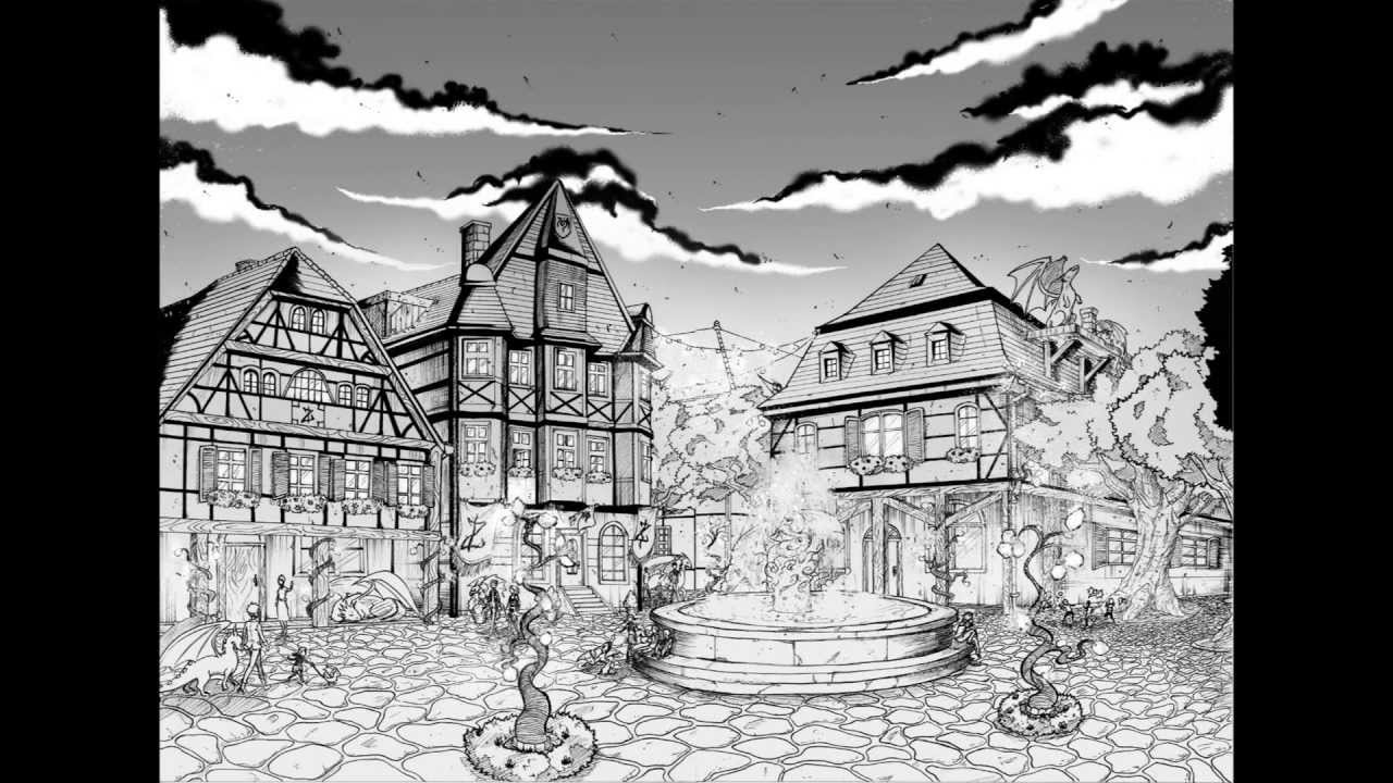 How to draw backgrounds for your manga part 1 youtube - Sketch anime wallpaper ...