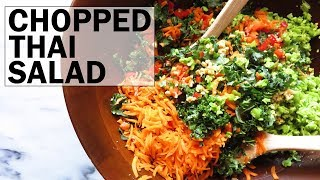 Chopped Thai Kale Salad (low carb + gluten free + vegan)