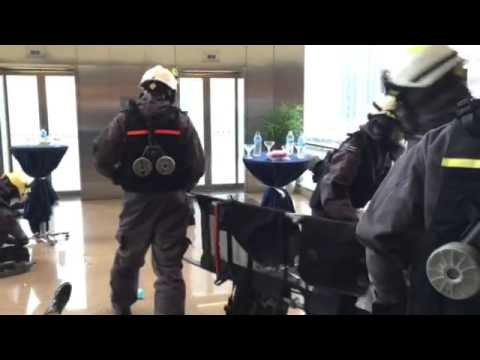 Exercise Heartbeat: Chemical agent attack at One Marina Boulevard
