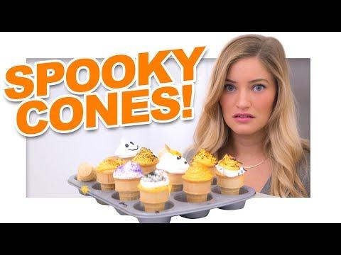 Download Youtube: Halloween Cupcake Cones!