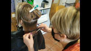 СТРИЖКА ПО ФОРМЕ Процесс женская стрижка Светлана Скыба салон красоты La Familia salon Бровары