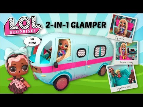 NEW LOL SURPRISE 2 in 1 GLAMPER camper van with OMG fashion doll