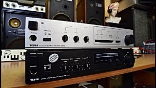 Tesla AZS 222 - Tesla AZS 223 stereo zesilovač amplifier