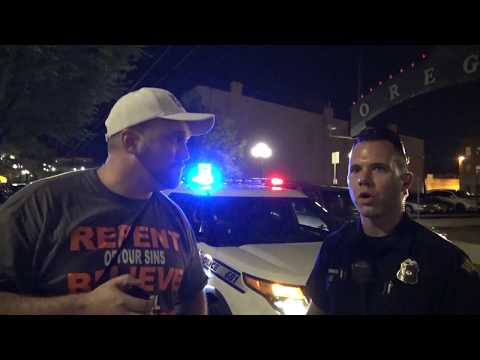 Preaching Repentance (Luke 24:47) to Angry Drunkards in Dayton Ohio. Police respond! Dayton Erupts