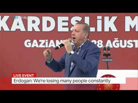 Live Event: Turkish President Erdogan addresses people in Gaziantep