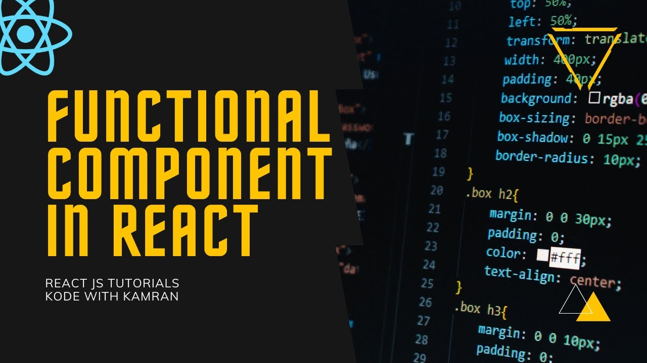 React JS Tutorial - 3 - Functional Component