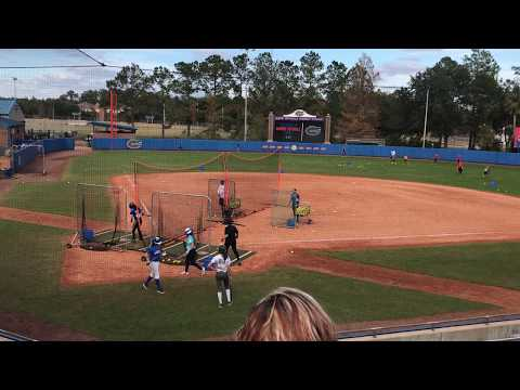 KaiLi Gross going yard at the Univ of Florida winter softball camp