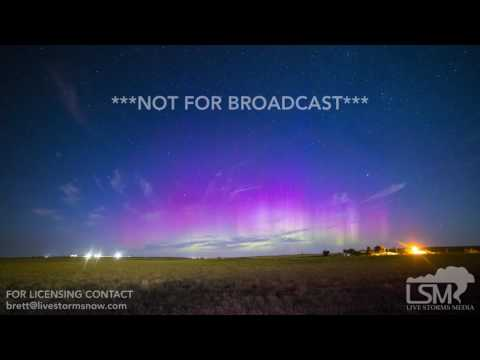 07-16-2017 New Underwood, South Dakota - Northern Lights Aurora Timelapse