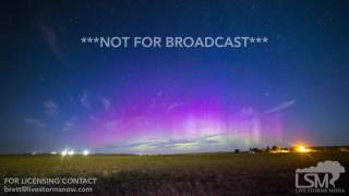 07-16-2017 New Underwood, South Dakota - Northern Lights Aurora Timelapse