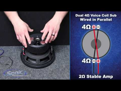 How To Wire A Dual 4 Ohm Subwoofer To A 2 Ohm Final Impedance | Car Audio 101