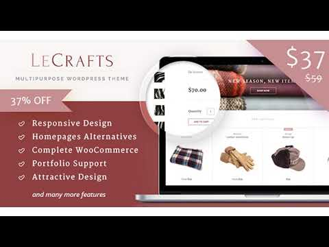 LeCrafts - WooCommerce Marketplace Themes   Themeforest Website Templates and Themes thumbnail
