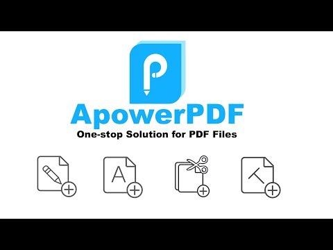 ApowerPDF - Simple Full Feature PDF Editor
