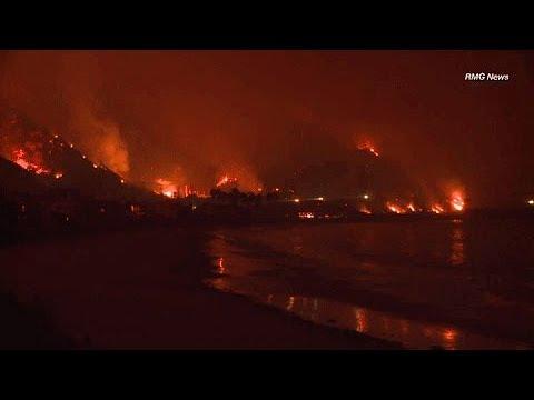 EN VIVO: Imágenes aéreas de los incendios en California (sin audio)