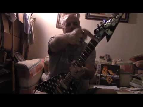 Ripping on my Randy Rhoads custom dot V-Michael D. Skewes