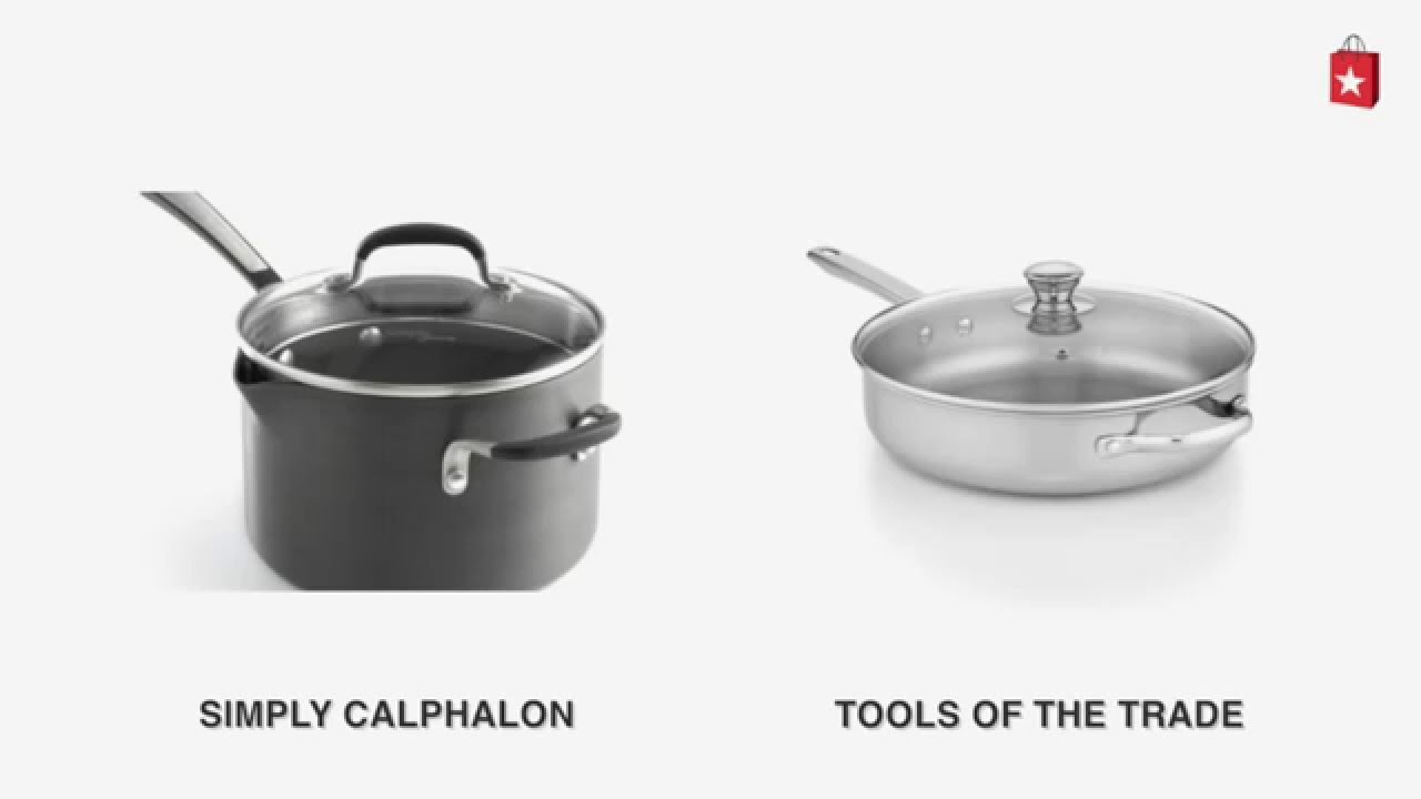 Simply Calphalon Nonstick 4 Qt. Pour and Strain Covered Saucepan ...