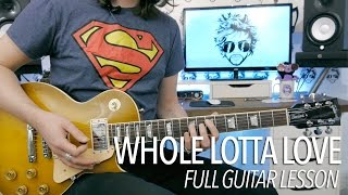 Whole Lotta Love - Led Zeppelin (Full Electric Guitar Lesson)