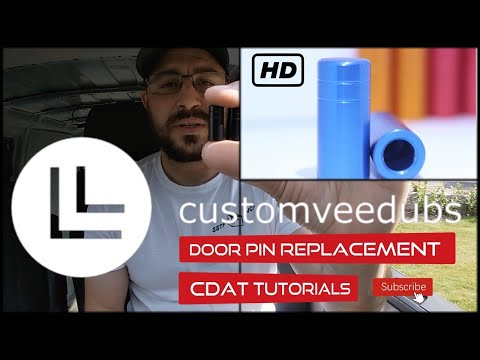 How to replace Door Pins by Customveedubs Tutorial Volkswagen Transporter T5 T5.1 & T6