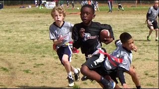 Youth Flag Football - 9 Year Old in Beast Mode