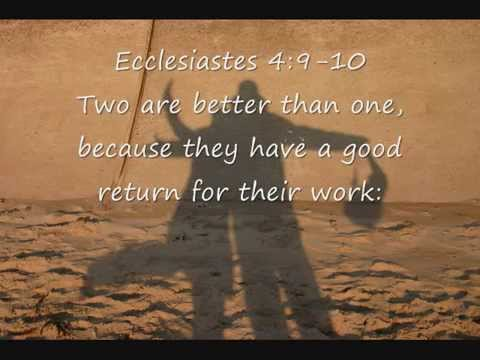 Biblical Quotes About Friendship Prepossessing Bible Verses About Friendship  Youtube