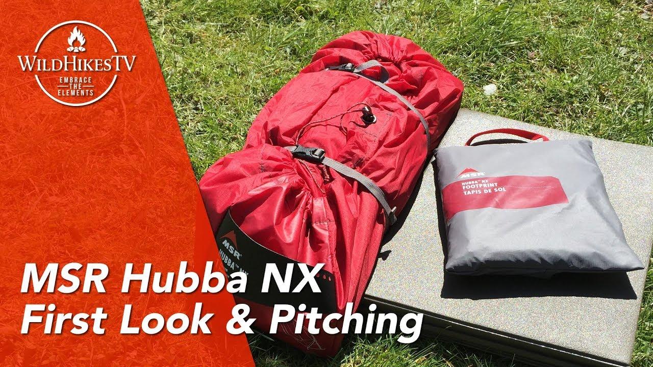 MSR Hubba NX - 1 Person Tent - MSR Footprint - First Look and Pitching 06fb018855dd