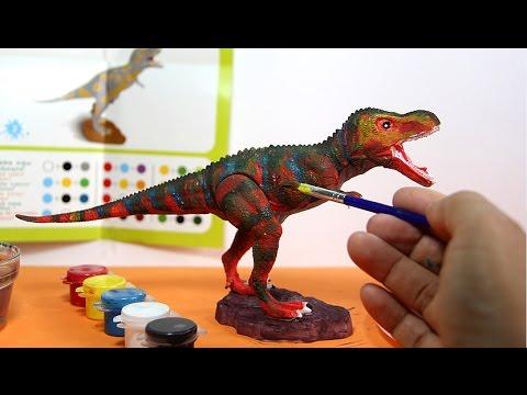 T Rex Dinosaur Toy Painting With Watercolors Dinosaurio De Juguete Para Pintar 1 6