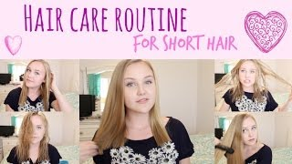 My Hair Care Routine/ How I Style It | For Short Hair Thumbnail