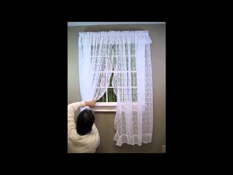 How to Hang a Priscilla Lace Curtain