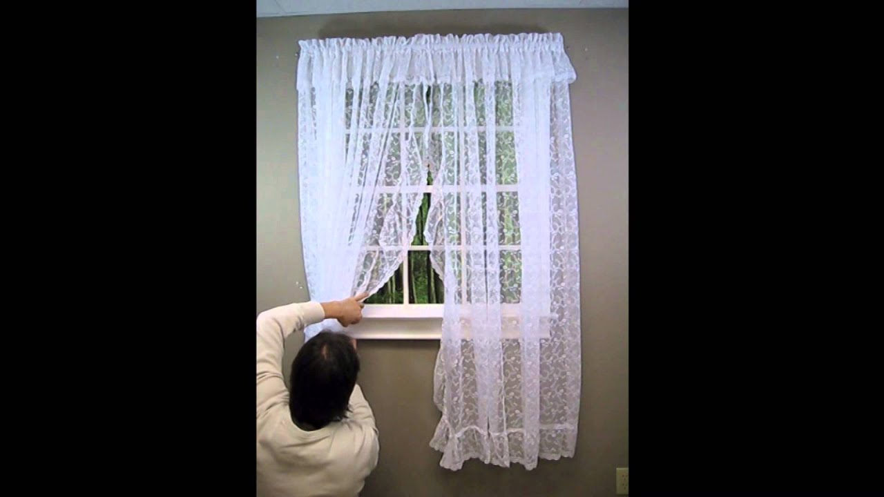 Priscilla Curtains Living Room How To Hang A Priscilla Lace Curtain Youtube