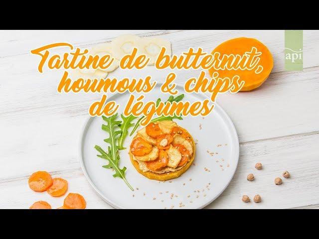 01. Tartine de butternut, houmous et chips de légumes