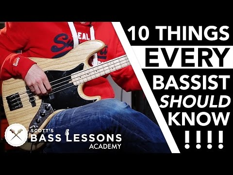 10 Things EVERY Bass Player Should Know /// Scott's Bass Lessons