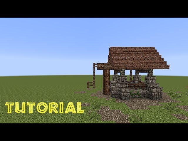 minecraft tutorial einen brunnen bauen build a well 123vid. Black Bedroom Furniture Sets. Home Design Ideas