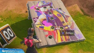 Get a Score of 10 on Carnival Clown Board Location - Fortnite (14 Days of Summer)