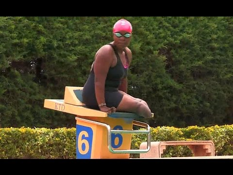 Paralympic Swimmer training for  RIO 2016