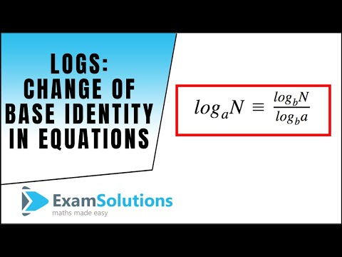 Logs - Using the change of base identity in equations : ExamSolutions Maths Revision